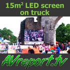 15sqm LED screen on truck - AVreport.tv