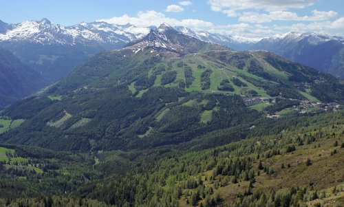 The Katschberg ski area as seen from Aineck (Photo: Copyright © 2020 Hendrik Böttger / runinternational.eu)