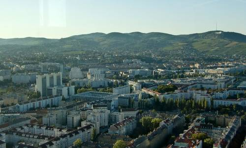 The Wienerwald hills as seen from the Millenium Tower in Vienna (Copyright © 2012 Hendrik Böttger)