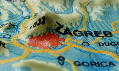 Relief map of Zagreb and Mount Medvednica, Croatia (Author: T.T.C. Trieste / designed for Kras Zagreb / photo copyright © 2018 Hendrik Böttger / runinternational.eu)