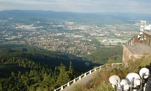 Liberec, Czech Republic, as seen from Mount Ještěd (Copyright © 2017 Hendrik Böttger / runinternational.eu)