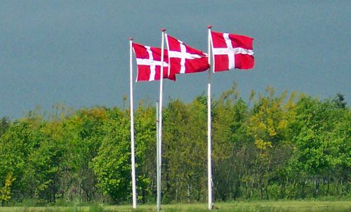 Danish flags (Author: Boereck / commons.wikimedia.org / public domain / photo modified by runinternational.eu)