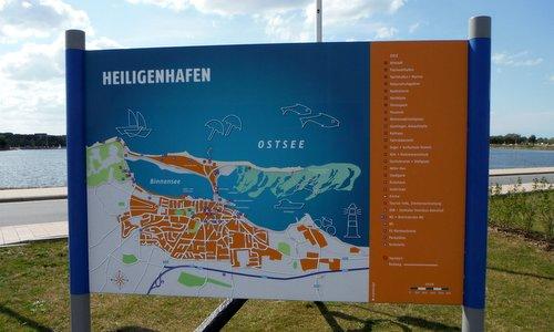 Heiligenhafen - Stadtplan am Binnensee (Copyright © 2014 Hendrik Böttger / Run International EU)