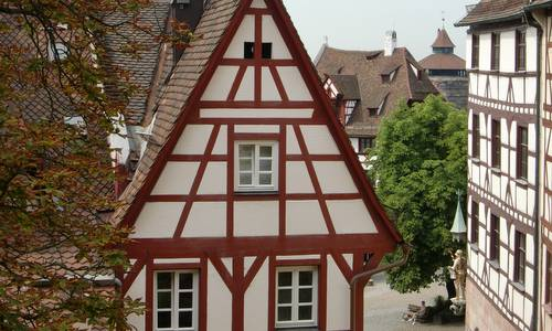 Fachwerkhäuser in Nürnberg / Half-timbered buildings in Nuremberg, Germany (Copyright © 2016 Hendrik Böttger / runinternational.eu)