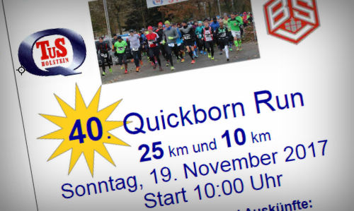 40. Quickborn Run 2017 - Flyer