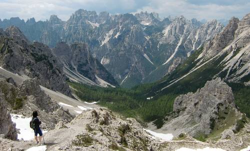 Skyrace Dolomiti Friulane - views from Forcella dell'Inferno (Copyright © 2009 Hendrik Böttger / runinternational.eu)