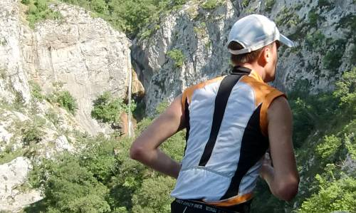 Trail Jamarun - at the waterfall in the Val Rosandra (Copyright © 2012 runinternational.eu)