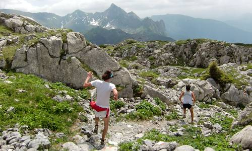 Skyrace Carnia, downhill from Pal Piccolo (Copyright © 2012 runinternational.eu)