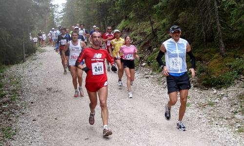 Cortina Dobbiaco Run, downhill to Dobbiaco (Copyright © 2012 Hendrik Böttger, runinternational.eu)