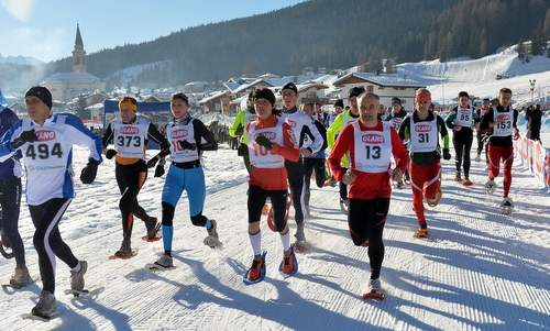 Ciasp DoloMitica - a snowshoe race in the Dolomites in Italy (Photo by courtesy of Gianluigi Topran d'Agata, Associazione SOL OMNIBUS LUCET)