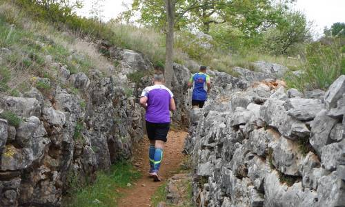 Marcia di Redipuglia, Italy - runners in a World War One trench (Copyright © 2015 Hendrik Böttger / runinternational.eu)