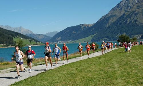 Reschenseelauf - Giro Lago di Resia - a running event at the Reschensee in South Tyrol, Italy (Copyright © 2015 Reschenseelauf)