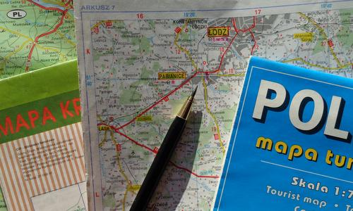 PPWK Tourist Map Poland and Touring Map 7 showing Pabianice and Łódź (Photo: Copyright © 2018 Hendrik Böttger / runinternational.eu)