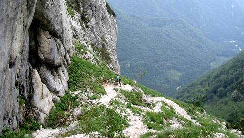 Grintovec Mountain Race: the route at an elevation of ca. 1700m