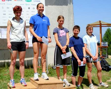 The first five ladies in the Osolnik mountain race 20090