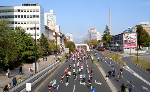 14th Ljubljana Marathon: long finishing straight