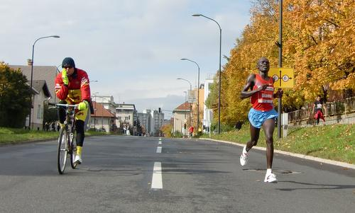 William Biama of Kenya, winner of the Ljubljana Marathon 2010 (Copyright © 2018 Hendrik Böttger / runinternational.eu)