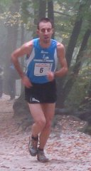 Mitja Kosovelj on his way to victory in the Šmarna Gora Mountain Race in Oct 2008