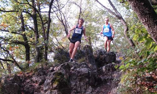 Šmarna gora Race (Tek na Šmarno goro): two runners on the ridge of Grmada - Photo: Copyright © 2017 Hendrik Böttger / runinternational.eu