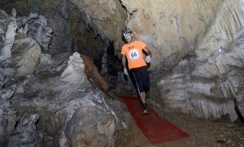 X-tek Dimnice - a time trial race through the Dimnice cave in Slovenia (Photo by courtesy of Venčeslav Japelj)