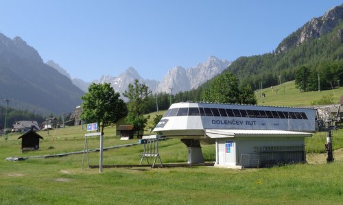 Kranjska Gora, Slovenia - the valley station of the Dolenčev rut chairlift (Copyright © 2019 Hendrik Böttger / runinternational.eu)