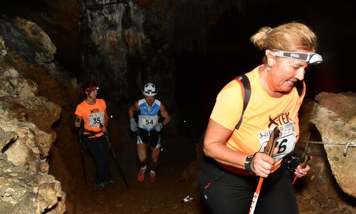 X-tek Dimnice - runners in the Dimnice cave in Slovenia (Photo by courtesy of Venčeslav Japelj)
